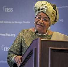 Ms Ellen Johnson President of Liberia