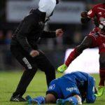 Swedish match abandoned after masked intruder attacks Ostersund goalkeeper