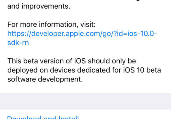 Apple releases iOS 10 beta for developers