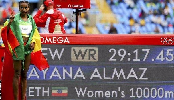 Rio Olympics 2016: Ethiopia's Ayana smashes world record for 10,000m gold