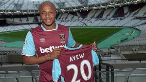 Andre Ayew when he signed for West Ham ahead of the 2016/17 season