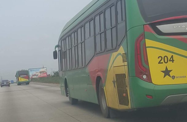NDC ditches controversial Mahama bus branding, 200 new buses has Ghana flags