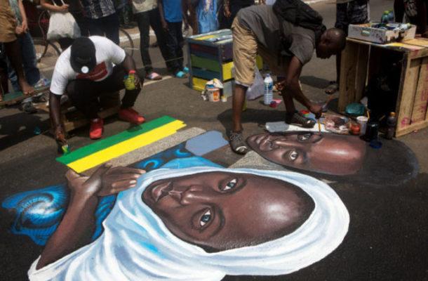 Ghana's contemporary art hits the streets