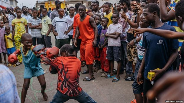 James Town is also the heart of Ghana's boxing heritage, with many taking up the sport from a young age.