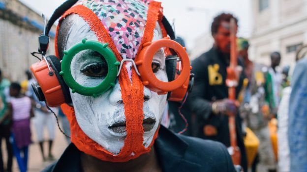 It also inspired people to create their own futuristic masks.