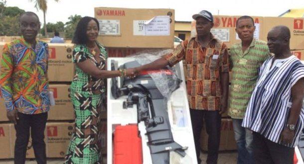 Keta fishermen receive outboard motors