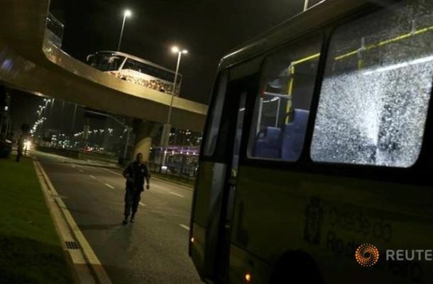 Get Down! Get Down! Rio Bus Carrying Journalist Hit By Gunfire