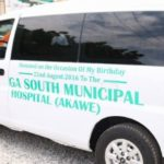 Obuobia donates ambulance to Ga South Municipal Hospital