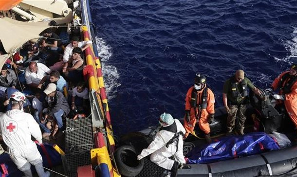 Spanish aid group rescues Ghanaian refugees off the coast of Libya