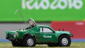 Technology on the rise at Rio Games;Photos and Videos of remote control cars