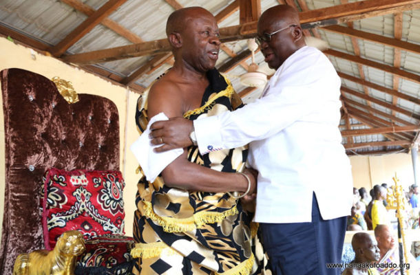 Sefwi Anhwiaso chief endorses NPP's '1-Factory-1-District' policy