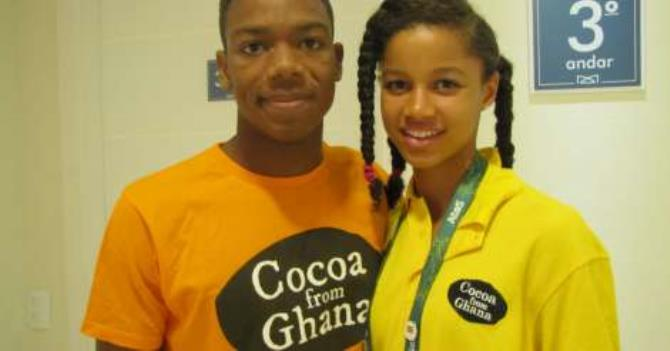 First Ghanaian swimmers at the Olympics Abeiku Jackson and Kaya Forson.