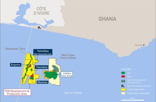 3 offshore fields to start oil production in Ghana