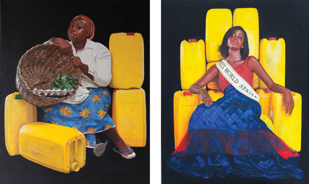 Jeremiah Quarshie, Yellow is the Colour of Water series, 2015-2016. Images courtesy of the artist and Gallery 1957, Accra.