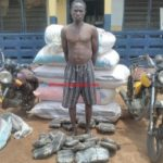 Police arrest farmer with large quantities of wee