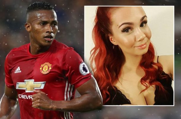 Man U player Antonio Valencia 'mourned' derby day loss by meeting sexy nurse in hotel behind his wife's back (photos)