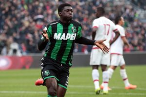 Fiorentina is 5 million euros apart from Sassuolo's valuation of Alfred Ducan