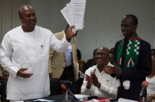 President Mahama picks nomination forms