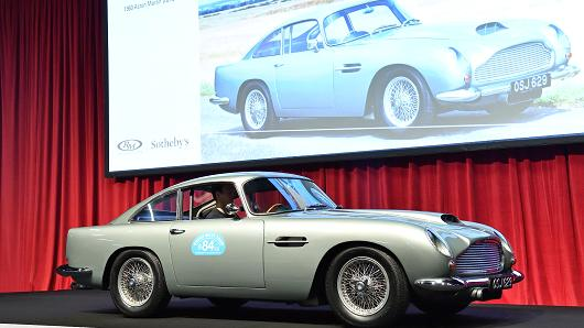 An Aston Martin just sold for $2.9 million and upstaged a fleet of classic Porsches