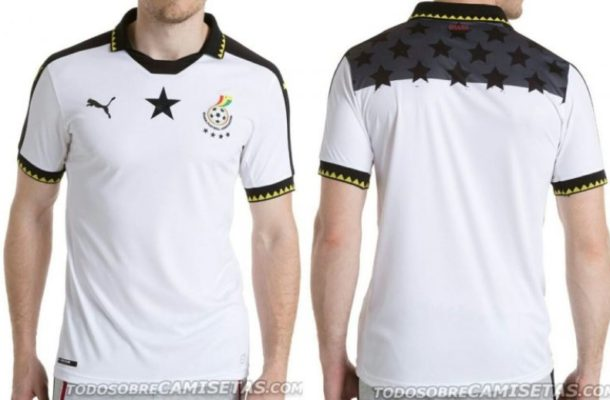 Photos: Black Stars new jersey for 2017 AFCON