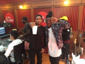 Photos: Stonebwoy records with Trey Songz