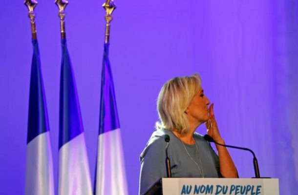 'France is not for sale,' far-right FN chief Le Pen tells rally