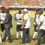 Under-fire Ghana Sports Minister Vanderpuye swerves ceremonial handshake fearing humiliation