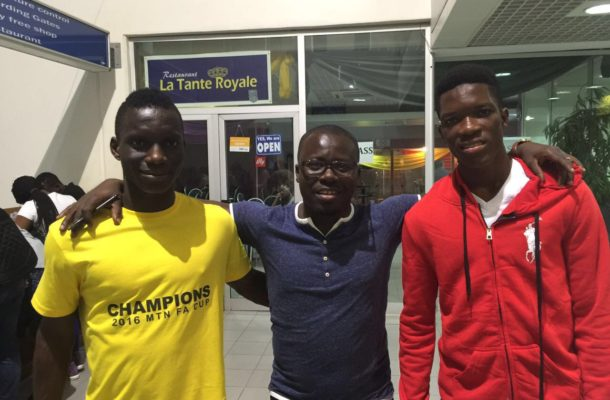 Ghana duo arrive in Italy for trials