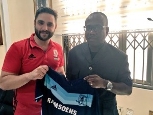 Middlesbrough Academy recruitment chief Thiago Cruz holds business talks with Ghana FA boss Kwesi Nyantakyi