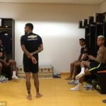 Hilarious Video! Neymar and team mates take on The Running Man Challenge