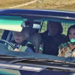 90 year old Queen Elizabeth drives Kate Middleton around her Scottish estate