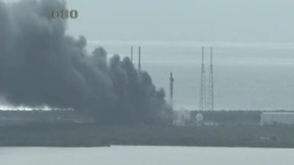 SpaceX rocket explodes on launchpad