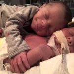 Heartbreaking picture of newborn baby saying goodbye to his twin
