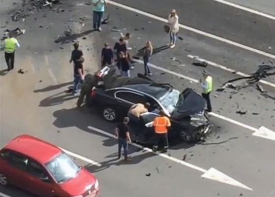 Photos/Video from Russia's president Putin's car involved in fatal car accident in Moscow killing the president's favorite chauffeur