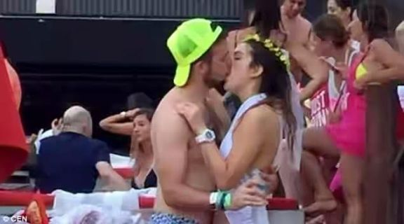 Wedding is cancelled after bride is filmed passionately kissing stranger on her hen do (photos)