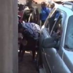Woman catches 'cheating' husband, destroys his Land Cruiser