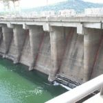 Water flows into Akosombo Dam