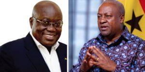 Video: Nana Addo clashes Mahama with hostile handshake