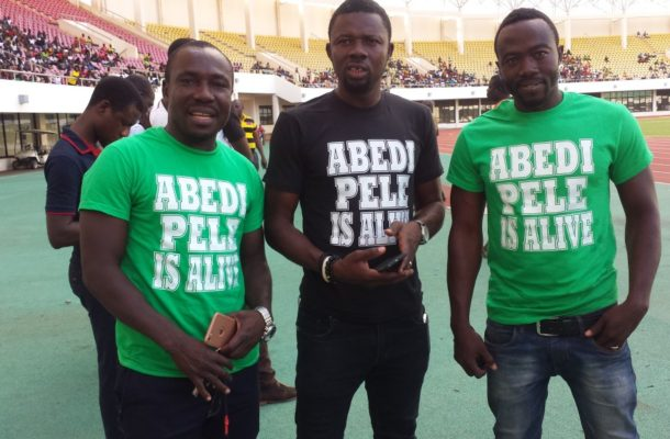 "Tamale football fans come out with ""Abedi is alive"" T-Shirts to refute Abedi death rumours"