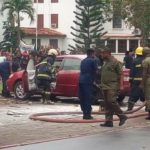 Car Set Ablaze As Commonwealth And Sarbah Students Clash On UG Campus