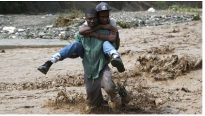 Struggle to reach Haitian storm zone