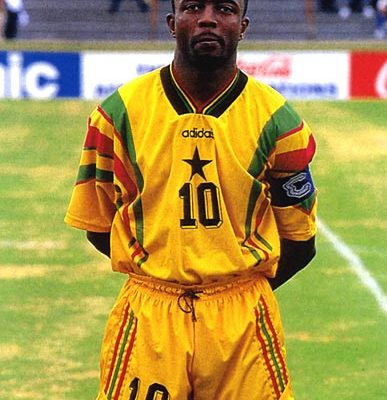 Teary Abedi Pele pays tribute to persons who helped shape his footballing career