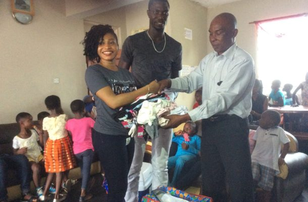 Muntari Tagoe and friends donate to Assurance of hope childrens home