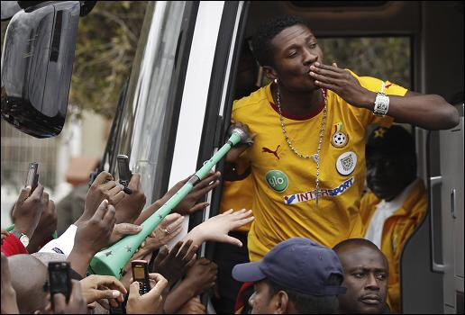 2018 World Cup qualifier: Skipper Gyan, Ayew arrived