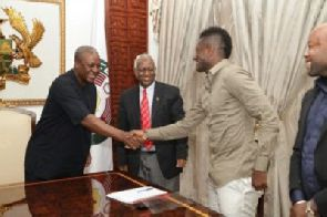 President John Mahama lauds Gyan's leadership qualities