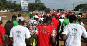 NDC Sunyani West candidate leads supporters in health walk [Photos]