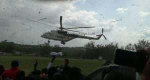 Mahama flies in helicopter to inaugurate Takorasi SHS [Photos]