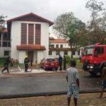 Commonwealth, Sarbah Hall students clash on UG campus; set car ablaze
