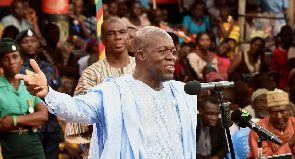 Amissah-Arthur attends Ejura Yam Festival