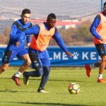 Mubarak Wakaso's Alaves train ahead of Copa del Rey clash